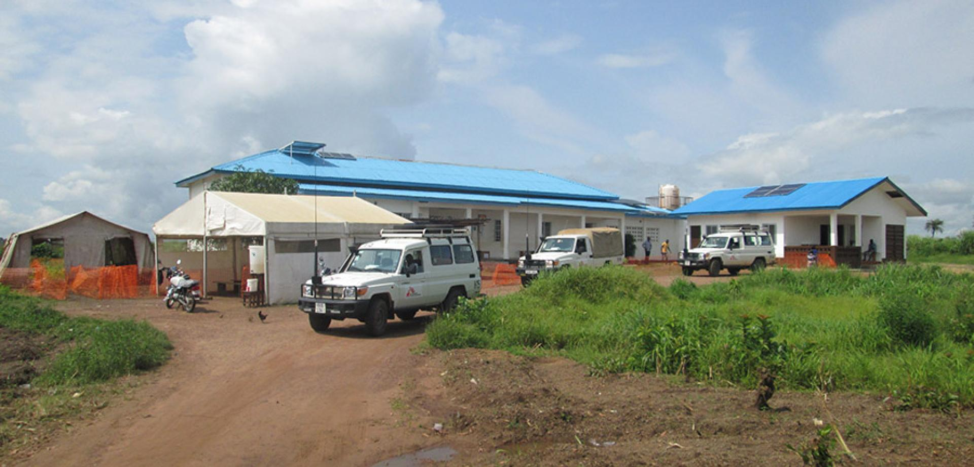 The clinic in Sierra Leone