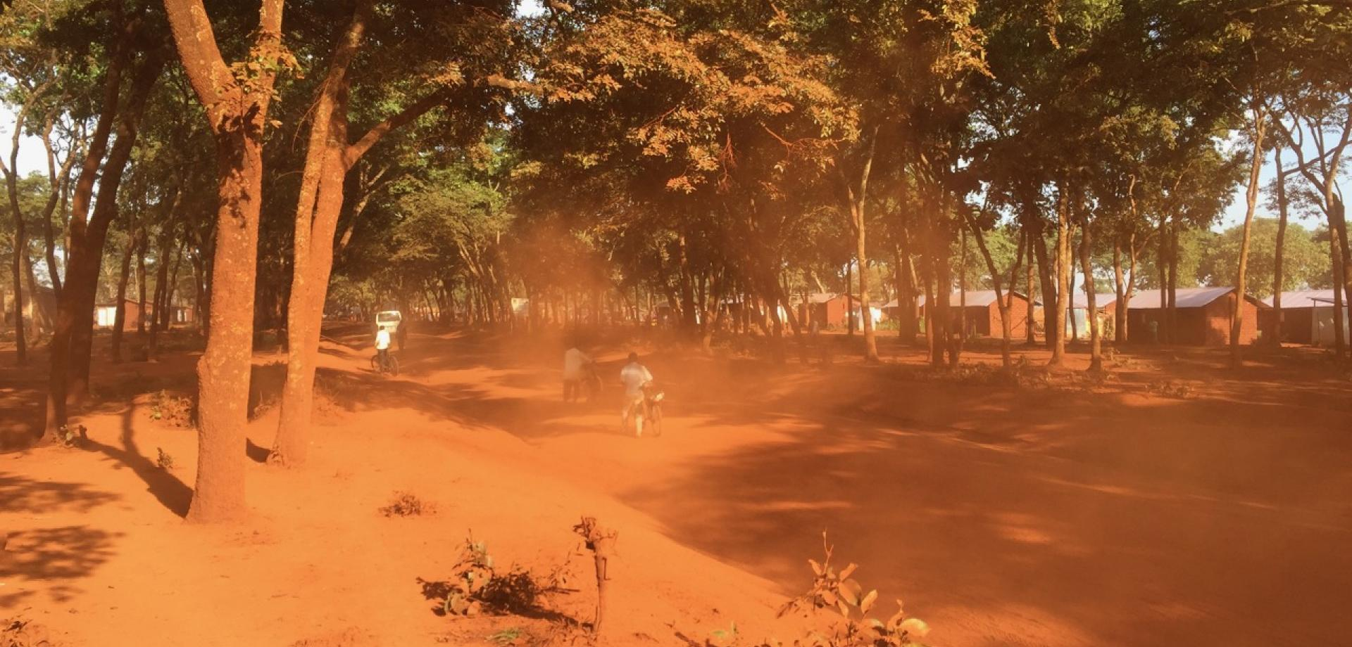 The red dust on the road in Makere