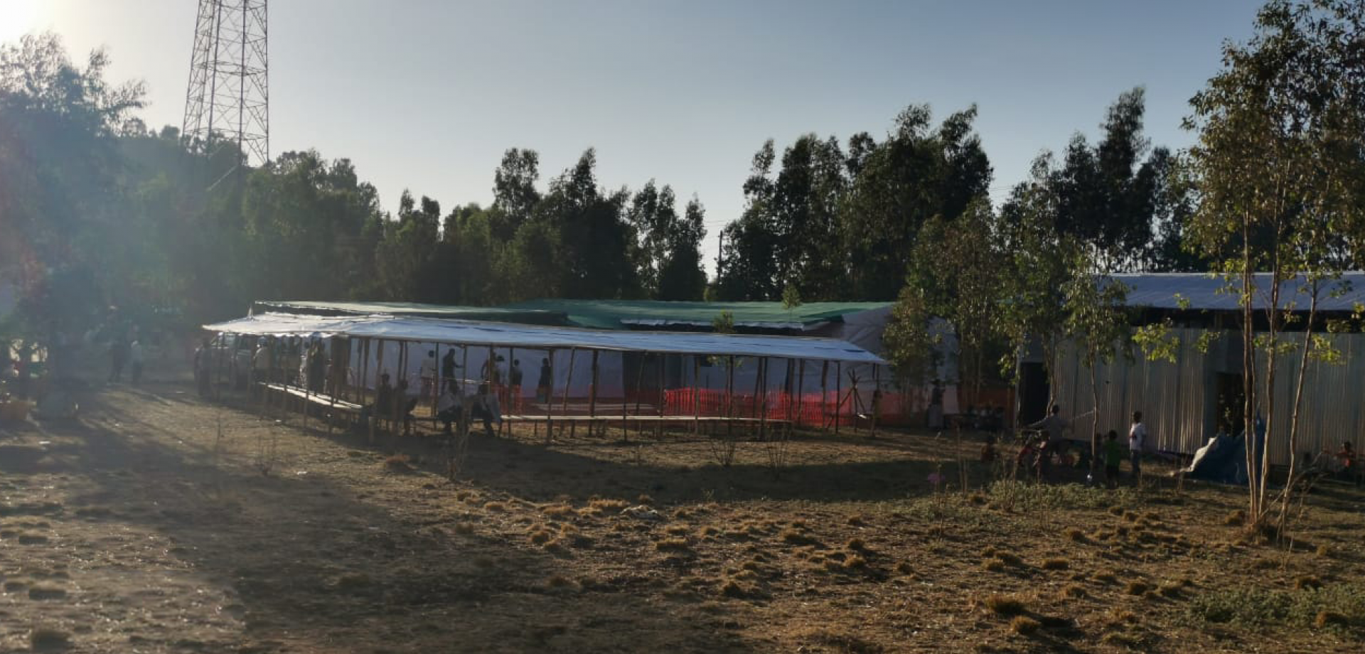 The MSF clinic in Hibret, Tigray
