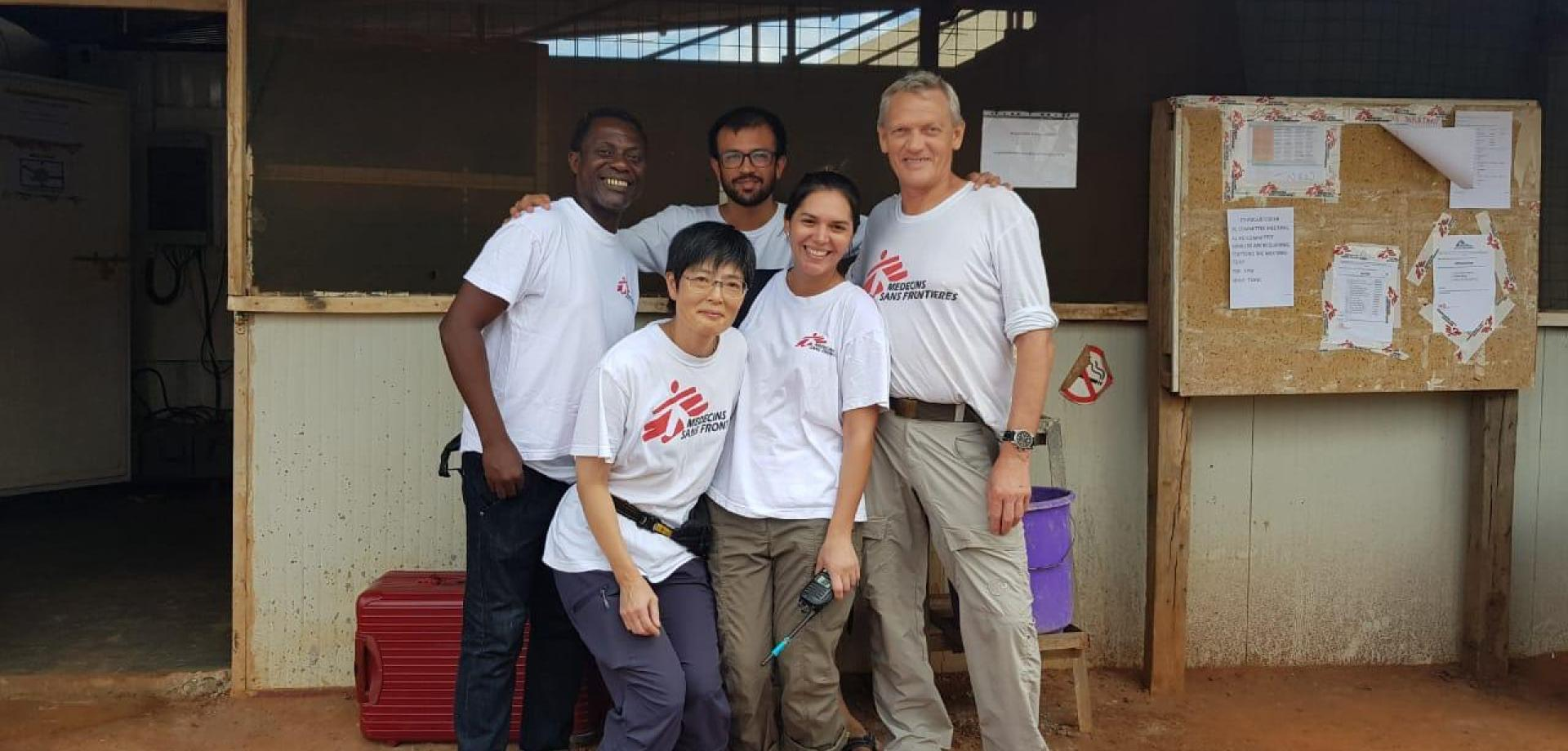Zafar Abdi and colleagues at an MSF project in South Sudan