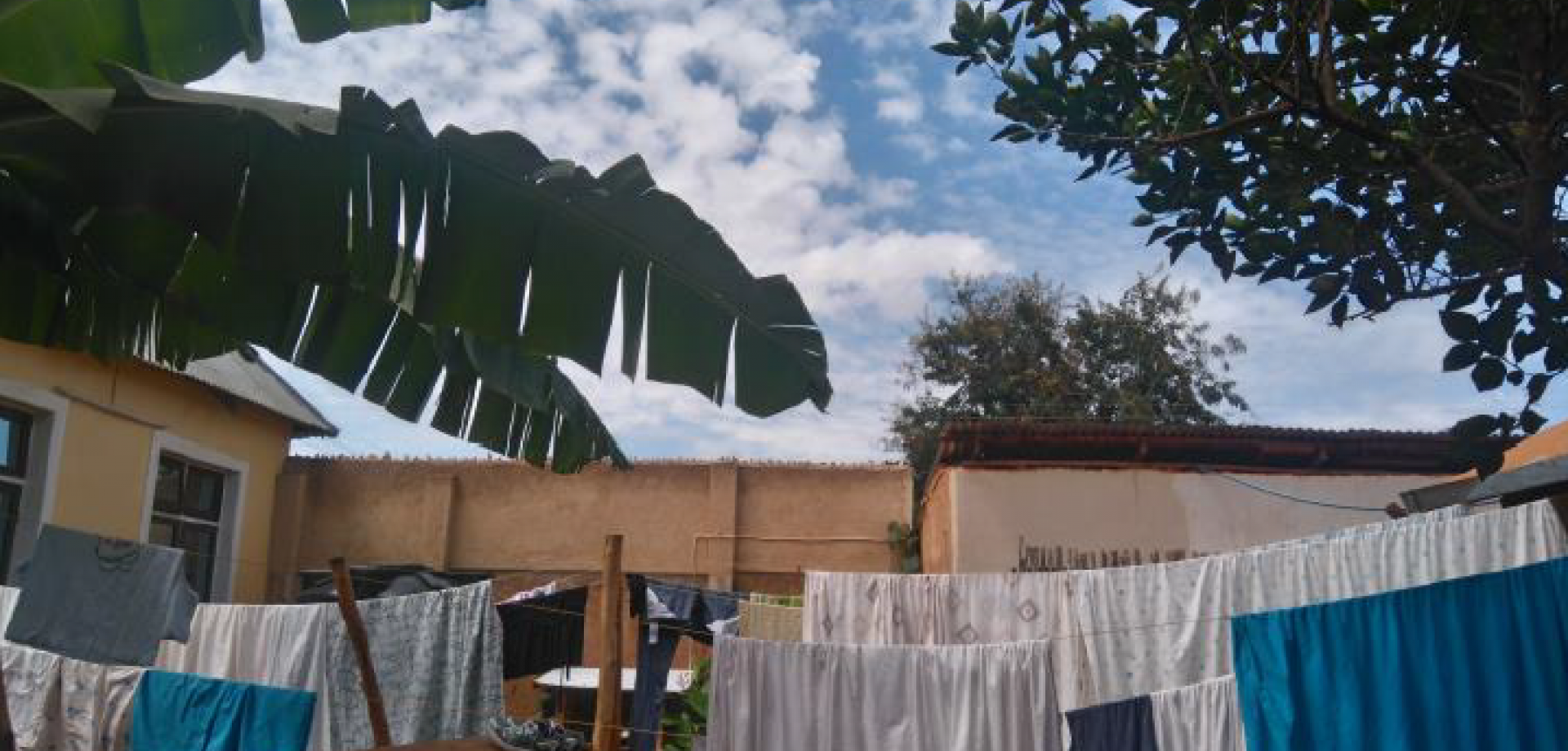 Washing drying in the MSF compound