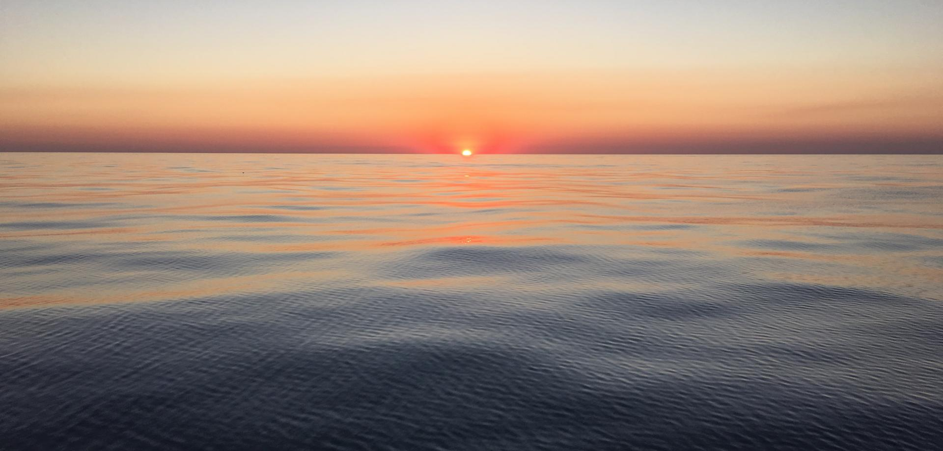 A sunset on the Mediterranean Sea